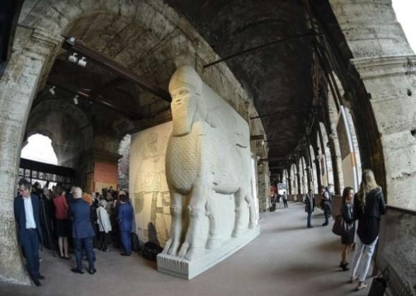 IS摧毀伊敍文物 羅馬3D打印重塑展出