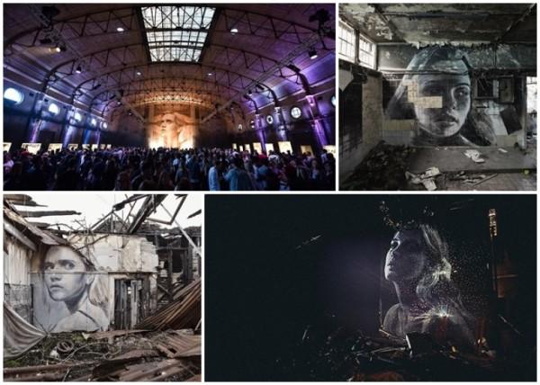 廢墟中巨畫 展現另類美